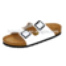 Senhoras sandálias de verão Praia cor sólida cortiça sandálias chinelos lisos