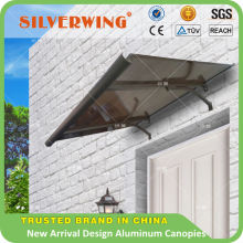 New Arrival design flat Aluminum metal wrought iron with twin-wall PC sheet canopies manufacturer