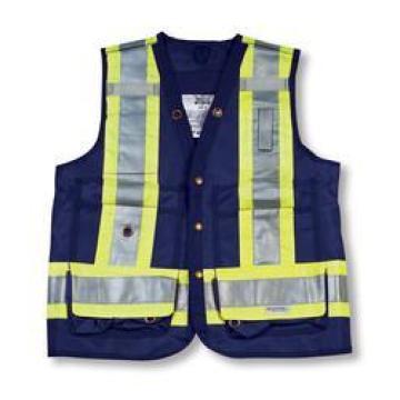 Navy Color 100% Polyester Surveyor Vest