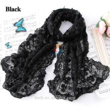 Bufandas largas hermosas 2015 de la manera Bufanda 100% del nuevo de la bufanda del poliester del verano del resorte