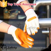 SRSAFETY Super grip оранжевые резиновые перчатки латексные рабочие перчатки дешевые