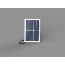 Lampe frontale à colonne solaire avec coque noire