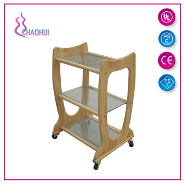 Matriks Kayu Solid Rambut Salon Trolley