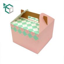 Neues Design Customized logo Papier Mittagessen Kuchen Verpackung Box