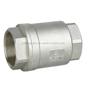 Válvula de retención vertical de acero inoxidable 304