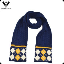 Winter Diamond Jacquard Cable Knit Kid Scarf