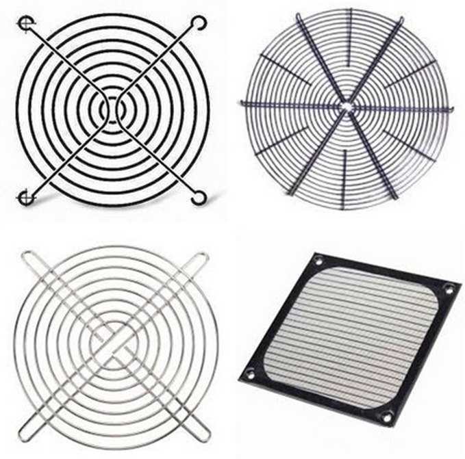 Electric wire mesh fan cover
