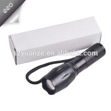 Lampe de poche LED XML-T6 Lampe torche, lampe de poche rechargeable 18650 ou AAA