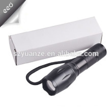 XML-T6 светодиодный фонарик факел фонарик, аккумуляторная батарея 18650 или батарея ААА свет фонарик
