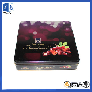 Chocolte Tin Box Containers Wholesale