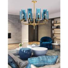 Lighting modern luxury glass chandelier pendant light ceiling lamp for living room