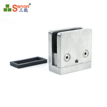 ss304 stainless steel stair fittings  balustrade glass clamp