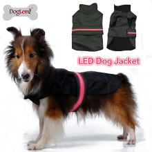 Wholesale warm safety LED flashing pet clothes for dogs cheap dog clothes