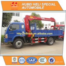 FOTON 4x4 5 tons straight arm truck mounted crane