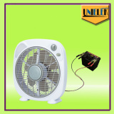 12v dc energy appliances LED light solar power fan 10 inch dc box fan price