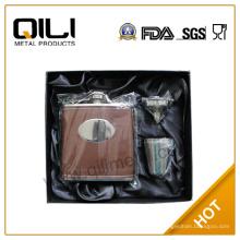 Фляга нержавеющая сталь в штучной упаковке бизнес ради подарочный набор