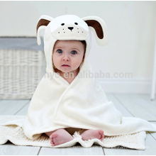 Long Eared Puppy Baby Towel Cream White, made in 100% Superior Quality Velour Cotton Terry Towelling,Great Water Absorbency