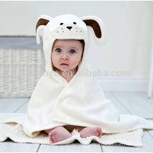 Длинный ушастый щенок Детское полотенце Белый крем, сделано в 100% высокое качество велюр хлопок махровая ткань,отлично Впитывающая воду