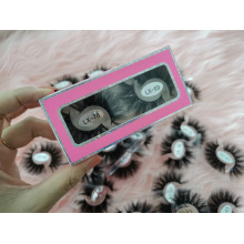 2021 New Style 2 Pairs Into One Package Box 3D 5D 25mm Mink Eyelashes
