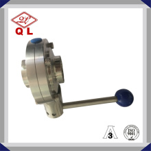 Welded Sanitary Stainless Steel Butterfly Valve