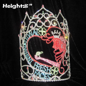 8in Height FRESH FACE Pageant Crystal Crowns