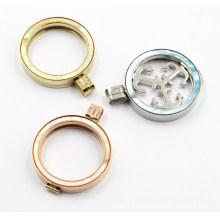 Fábrica de atacado de aço inoxidável 316L medalhão moda jóias com tops coloridos