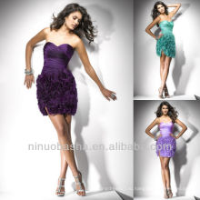 Колонка Фиолетовый Ярусный Мини Милая Короткие Homecoming Платье Выпускной Платье