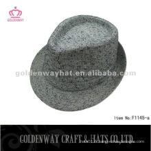Chapeau fedora en tissu pour femme