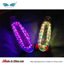 Planche à roulettes en plastique à LED de 22 pouces