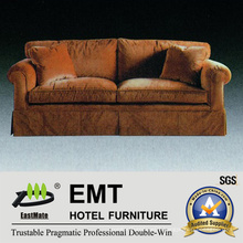 Hotel Bedroom Sofa Set Solid Wood Frame Sofa (EMT-SF47)