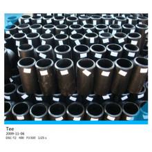 Black Steel CS Pipe Fittings Straight Tee
