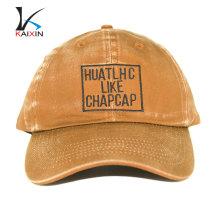 estilo duro al por mayor barato desgastado 6 paneles de ala corta de béisbol de alta calidad arandela sombreros casquillo duro