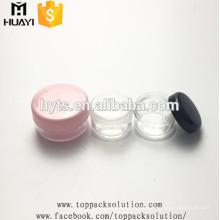 kleine Kapazität AS / PS Kunststoff leere kosmetische Mini-Glas