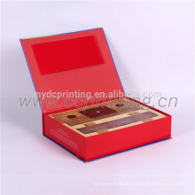 Caja de cartón de empaquetado de regalo de papel personalizado con tipo de libro