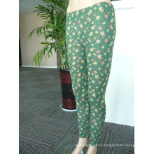 Polyester Printed Long Trousers Leggings Lady's Pants
