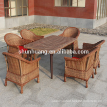 New design outdoor furniture high quality garden wicker dining sets table and chairs