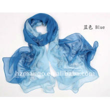 2016 la última bufanda de seda del color del dos-tono del bordado de la manera