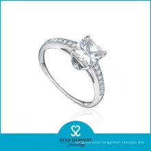 Anel de jóias de prata 925 de noivado romântico com logotipo personalizado (R-0349)