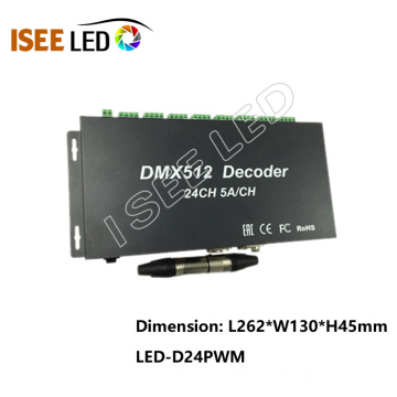 Decodificador LED DMX de 24 canais