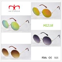 Diseño retro y gafas de sol redondas del metal del capítulo (MI218)