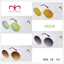 Retro Design and Round Frame Metal Sunglasses (MI218)