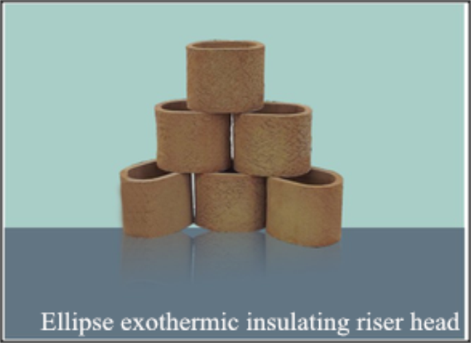 Ellipse exothermic insulating head riser