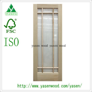 French Style White Oak Front Wooden Door