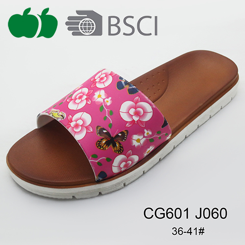 hot design printing ladies slippers