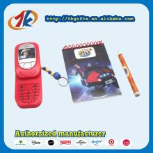 China Lieferanten Mini Plastic Sliding Telefon Spielzeug mit Briefpapier Set für Kinder