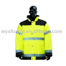 Sécurité, visibilité, avertissement, veste réfléchissante