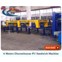 High quality discontinuous pu sandwich panel machine/ metal pu sandwich panel line