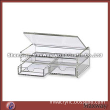Manufacturer Tabletop Acrylic Gift/Makeup Chest with 2 Drawers and Lid