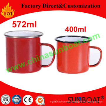 Customized Capacity Carbon Steel Enamel Mug