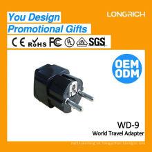 Adaptador de enchufe de la lámpara del enchufe del recorrido de múltiples funciones, caucho ce el rohs aprobado